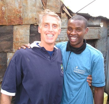 Mike with Ben, a Compassion Kenya LDP student