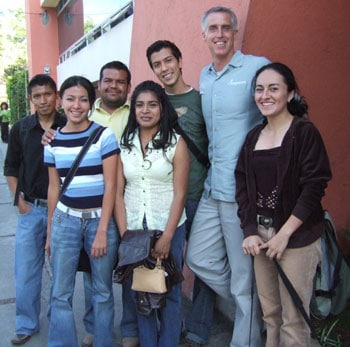 Mike with several LDP students attending the University of Guatemala
