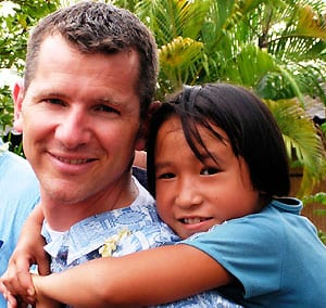 Scott with his sponsored child