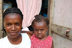 Beneficiaries of Compassion who live near Les Cayes, where protesting and rioting recently broke out.