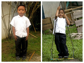 During and after the child photo process