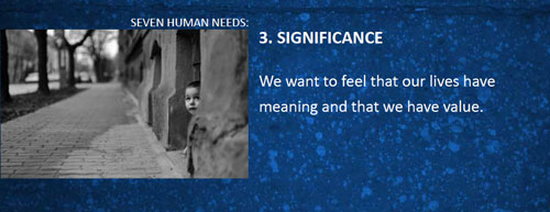 7 human needs significance