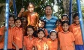 Project Manager Piyush with children