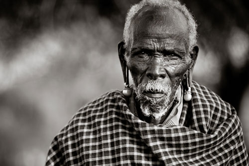 definition of beauty elderly maasai