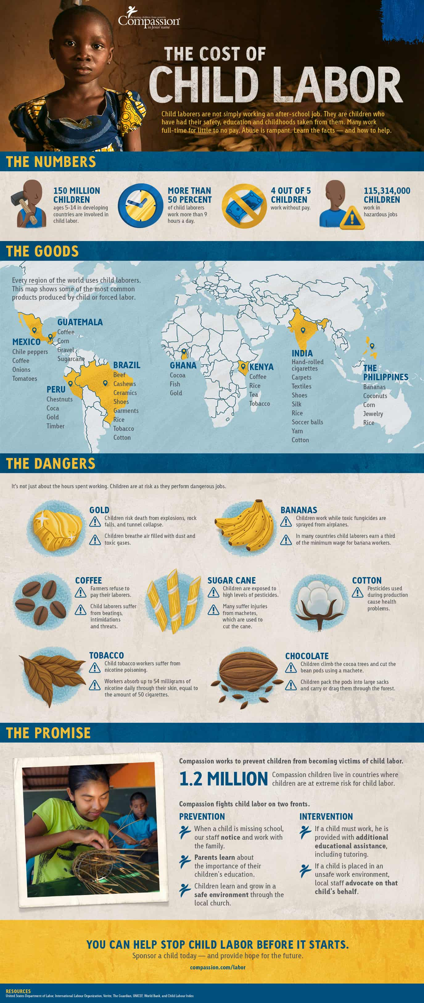 The Cost of Child Labor Infographic