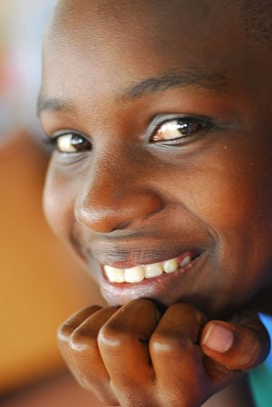 Photo of a Ugandan child taken by Keely Scott during Uganda blog trip - February 2008