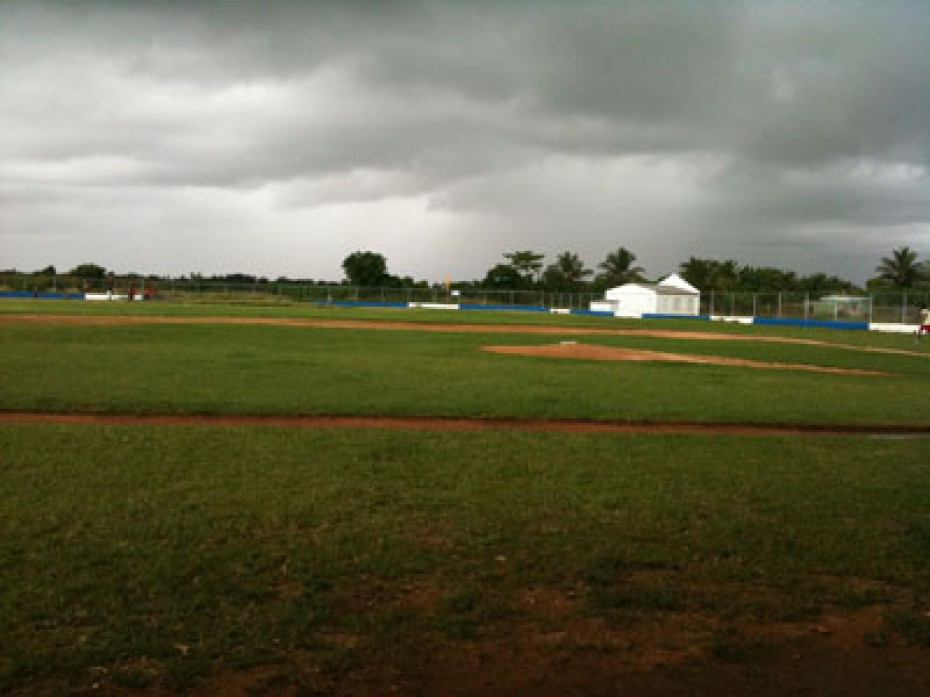 A baseball field in the Dominican Republic