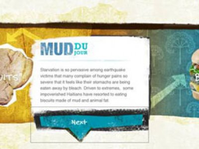 graphic describing mixing mud in with food