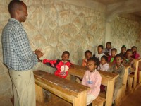 Ethiopian children in classroom