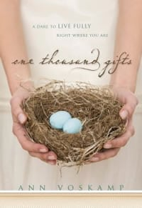 book cover for one thousand gifts