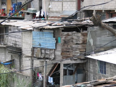 A shanty-style house in Guatemala