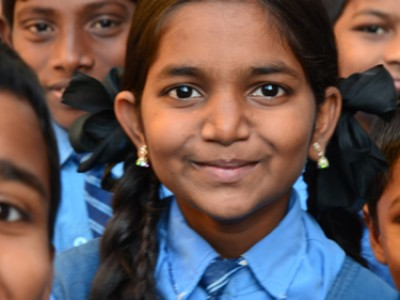 smiling girl from India