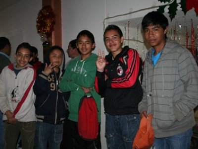 group of Mexican teens