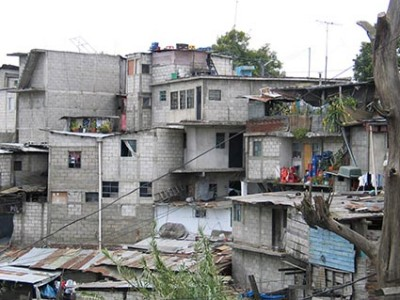 homes in a city in a developing nation