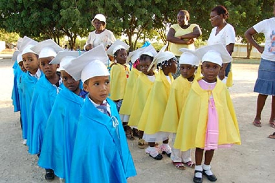 young children dressed for graduation celebration