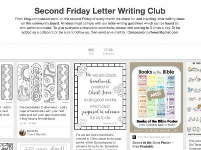 Join the Second Friday Letter Writing Club on Pinterest