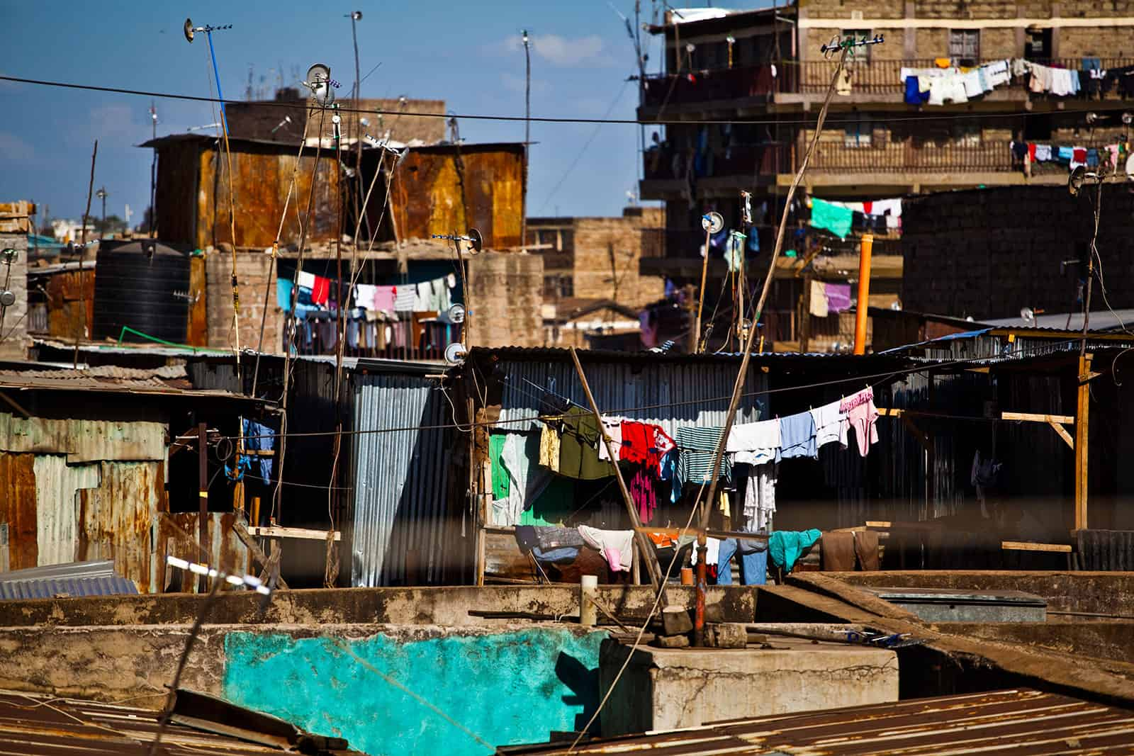 A slum in Kenya like the one sometimes visited in poverty tourism