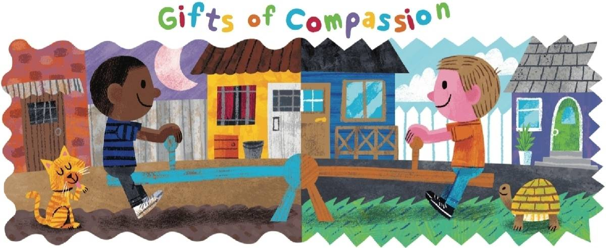 Gifts of Compassion game for children to play with their friends and family around the holidays for a free, creative activity