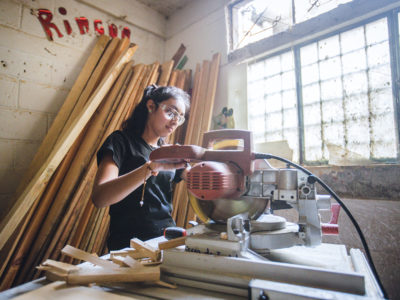 Lucerito Has The Best Tools To Build furniture and Her Bright Future