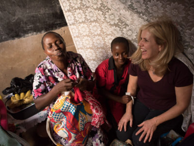 3 Inspiring Women Standing Up for Children in Poverty - Paige and child she sponsors Susan