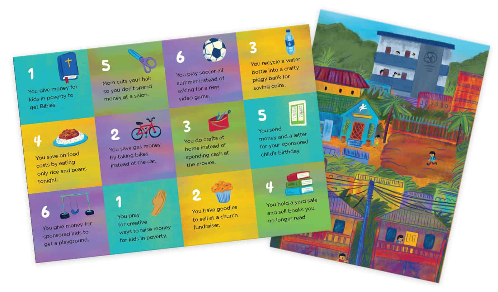 Fun family activities at home: Raise, Save, Give board game