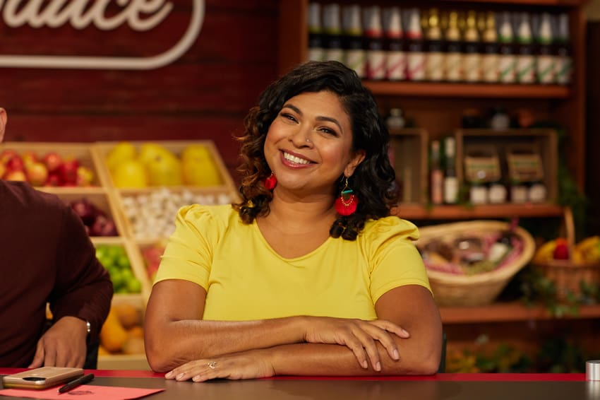 Aarti Sequeira on Guy's Grocery Games