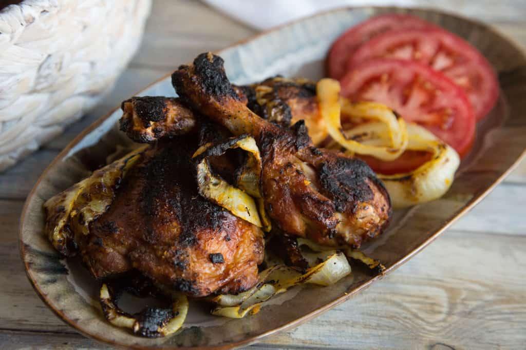 Togolese grilled chicken on a plate