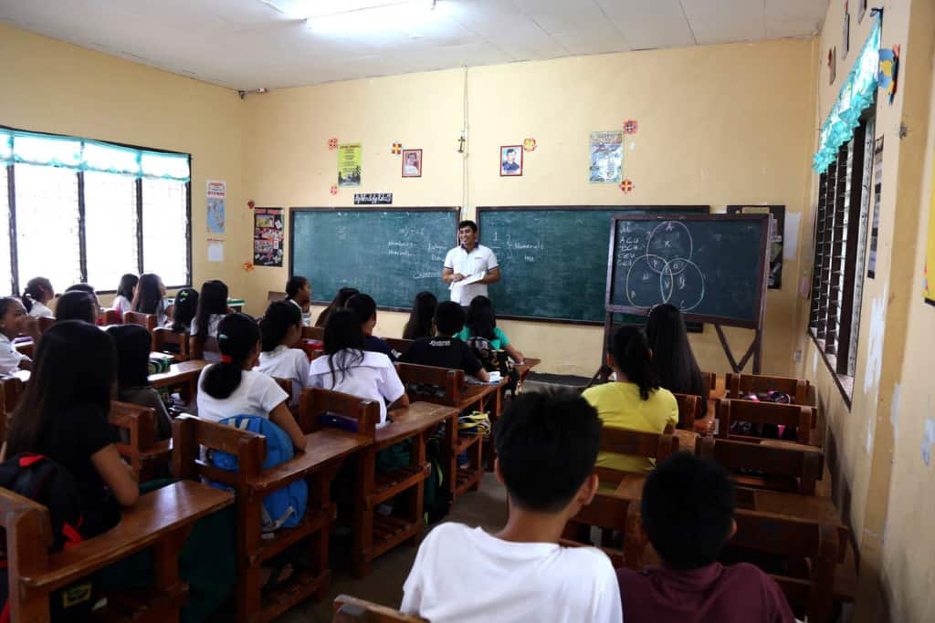 Typical classroom in the Philippines.