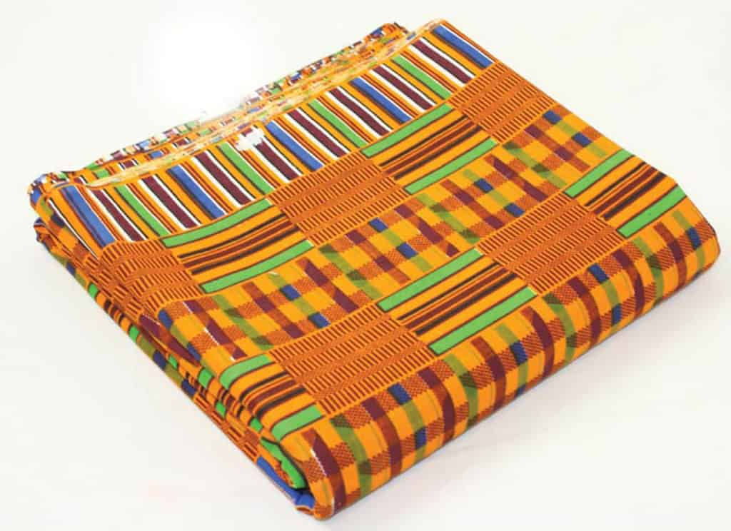 Folded Kente Cloth