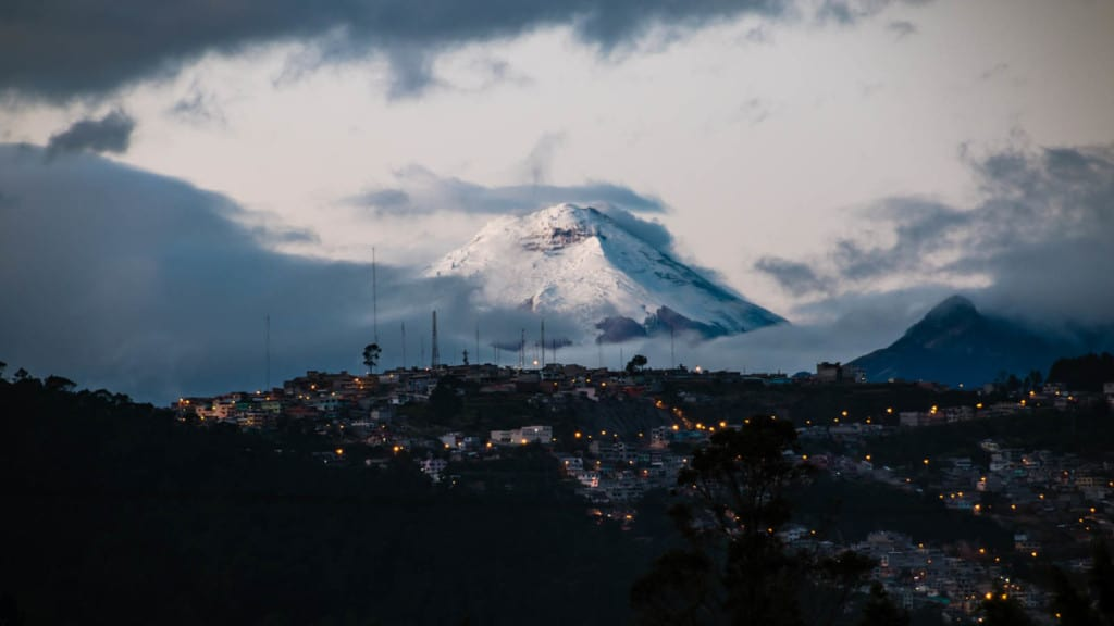 Cotopaxi volcano in the early morning.