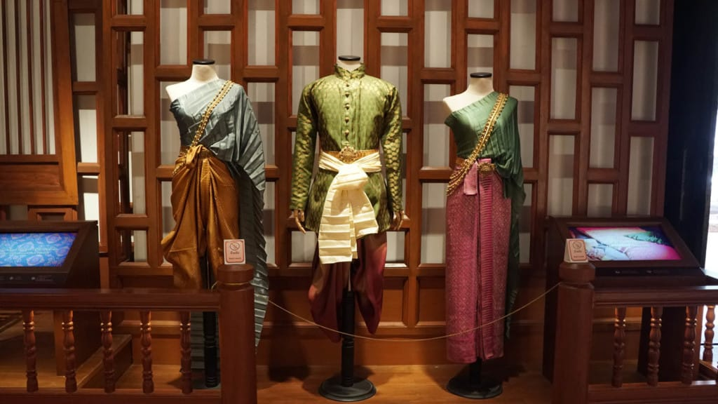 A display of traditional Siam clothing