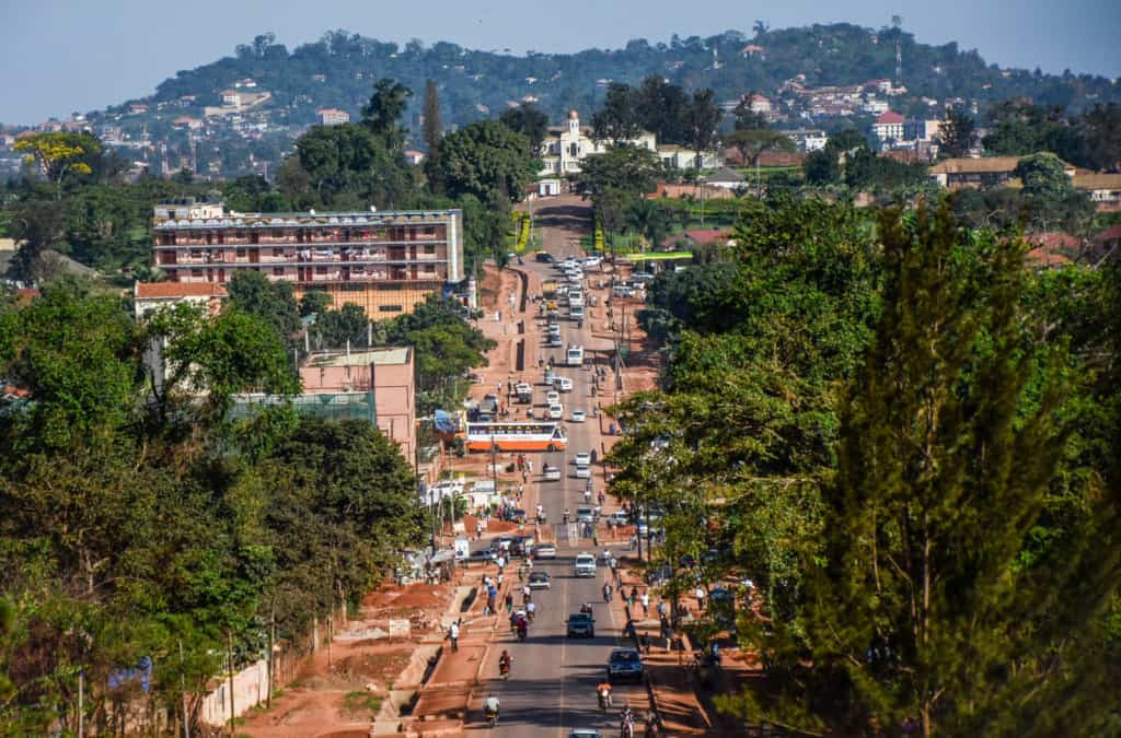 The Royal mile between Buganda Parliament and Kabaka Palace in Kampala, Uganda