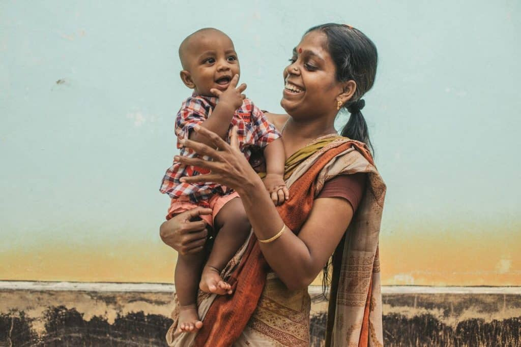 Smriti is a strong mother in Bangladesh who gave birth to her son at home.