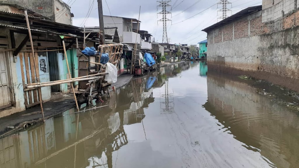 A river near the children's homes overflowed and caused flooding.
